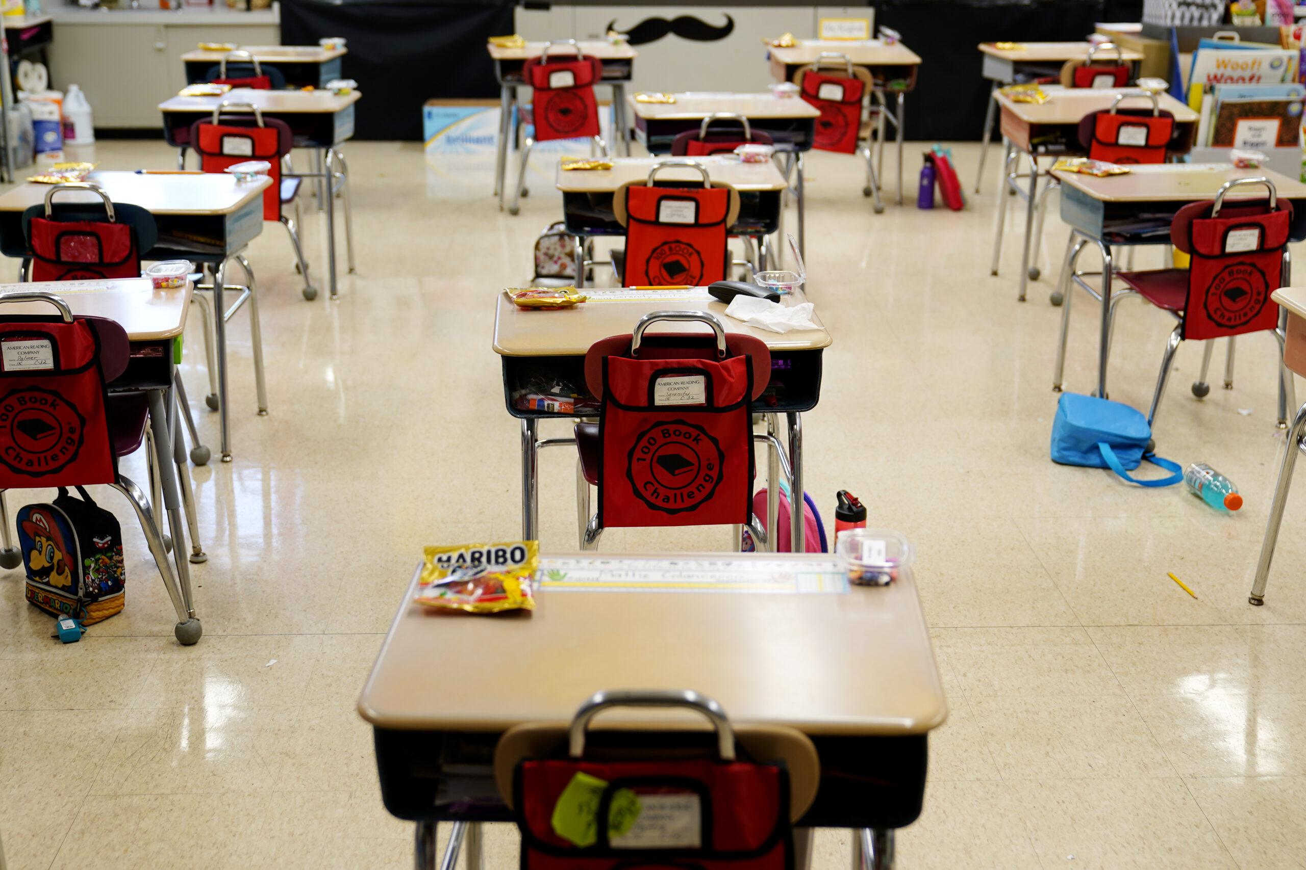 schools classroom desks students